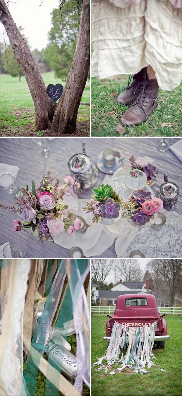 Bohemian Vintage Hochzeitsdekoration  Hochzeitsdekoration- Ideen  P ...