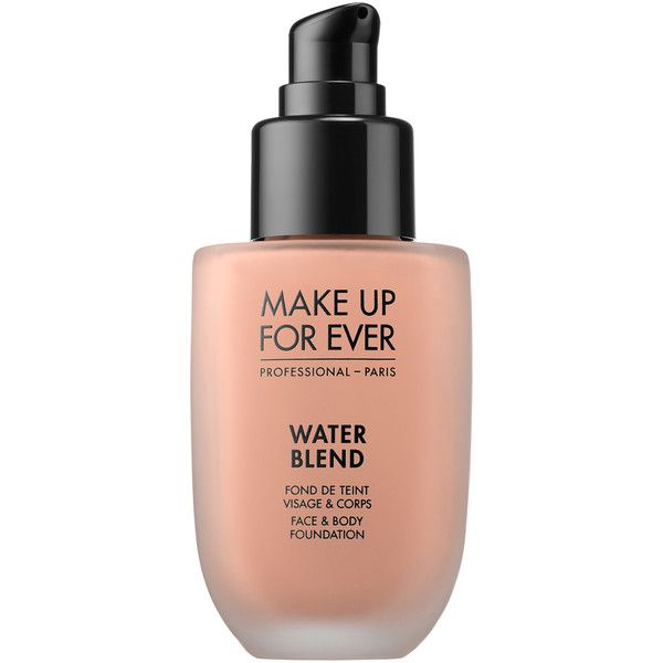 MAKE UP FOR EVER Water Blend Face Body Foundation found on Polyvore featuring beauty products, makeup, face makeup, foundation, make up for ever foundation and make up for ever