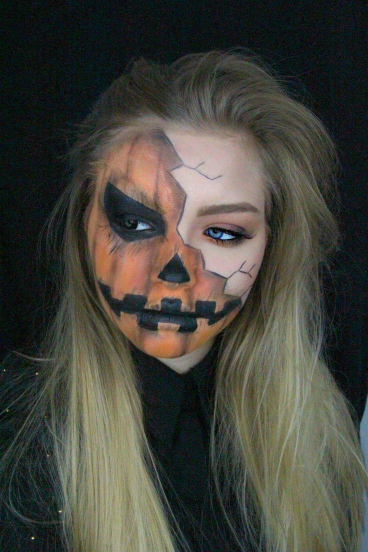 Halloween: Creepy Pumpkin Makeup Tutorial