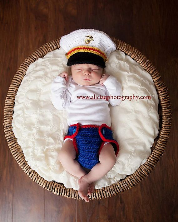 Crochet Marine Corps Officer Blues Cover and by CrochetbyPalm, $38.00     ~OMG ADORABLE~