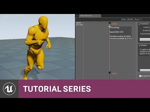 22 best blueprint 3rd person game v48 unreal engine images on intro to blend spaces blending between different animations creating a blend space apply parameter settings malvernweather Images