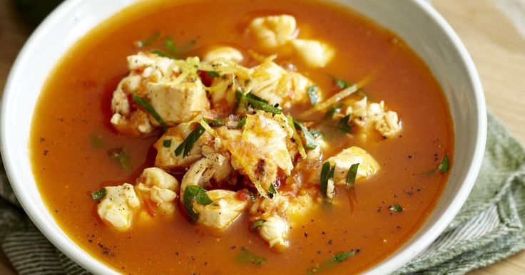 Seafood Soup Recipe with gremolata and lobster