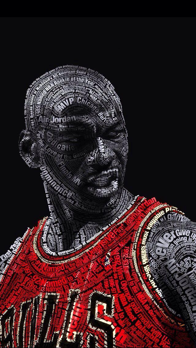 80 Amazing Examples Of Typography Portrait For Inspiration Michael Jordan