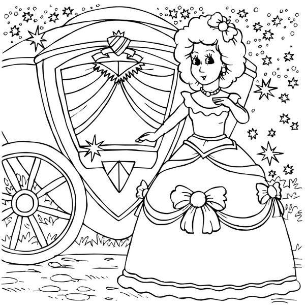 ausmalbild märchen kostenlose malvorlage aschenputtel