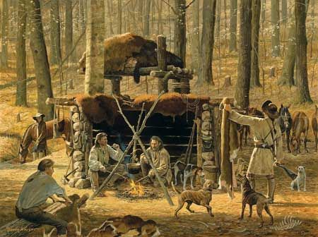 longhunter   Home - The Pine Creek Party A Company Of Longhunters Living The Life ...