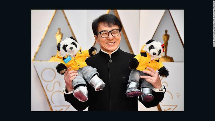 Jackie Chan brings two stuffed pandas as his Oscar dates - CNN.com