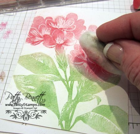 Stamping with chalks tutorial