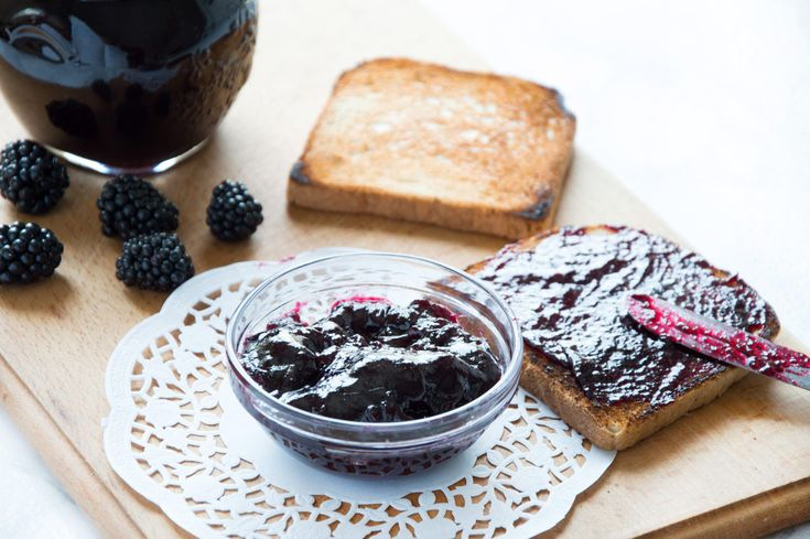 Homemade Blackberry Jam ready in less than 30 minutes! Only 3 - all natural ingredients and no Pectin. Yum!