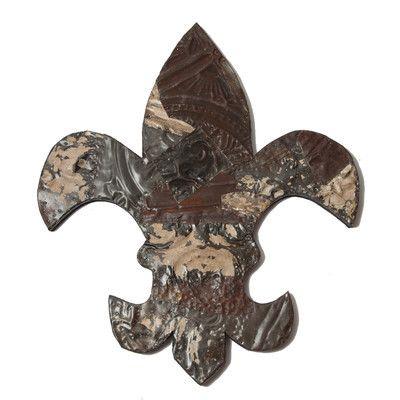 American Made Ozark Folk Art Antique Tin Fleur-de-lis Symbol ~Suggested Retail~