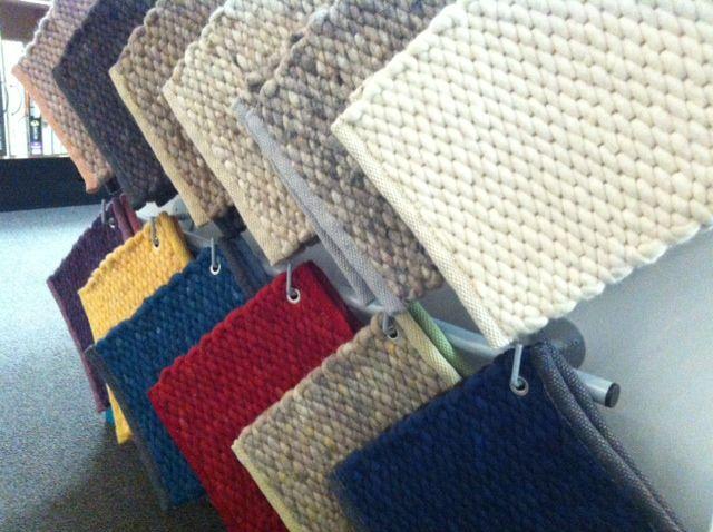 Prachtige wollen Perletta carpetten. Leverbaar in diverse kleuren en structuren