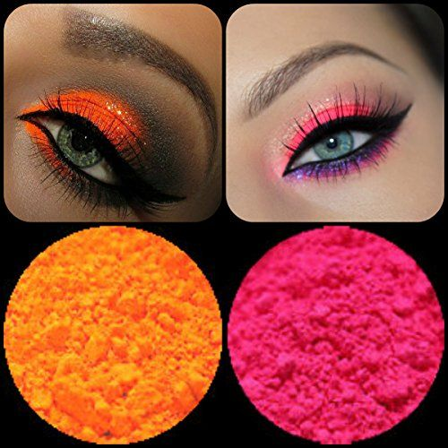 New Eyeshadow Pigment Myo Ultra Bright Matte Ultra Bright Pink  Ultra Bright Orange Mica Cosmetic Mineral Makeup 3 Gram Small Size Prep eyelids with a base primer before applying pigment *** Check out the image by visiting the link.