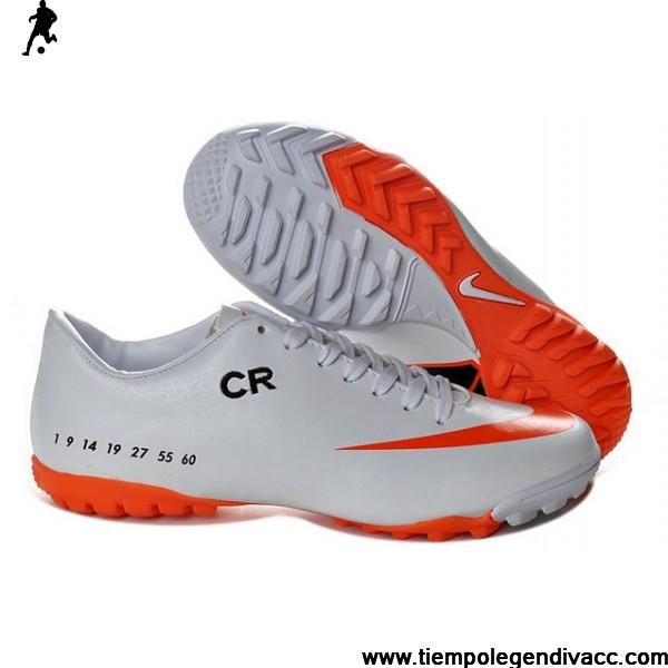 Cheap Cristiano Ronaldo SE Nike Mercurial Victory V TF White Orange football  Futsal Cheap Soccer Cleats Shop