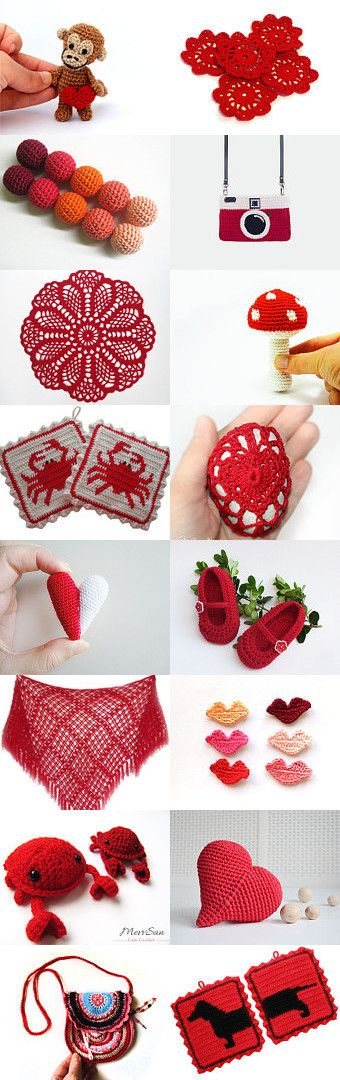 maRRose - CCC: Treasury Tuesday, Crochet in Red by Marianne Dekkers-Roos on Etsy--Pinned with TreasuryPin.com