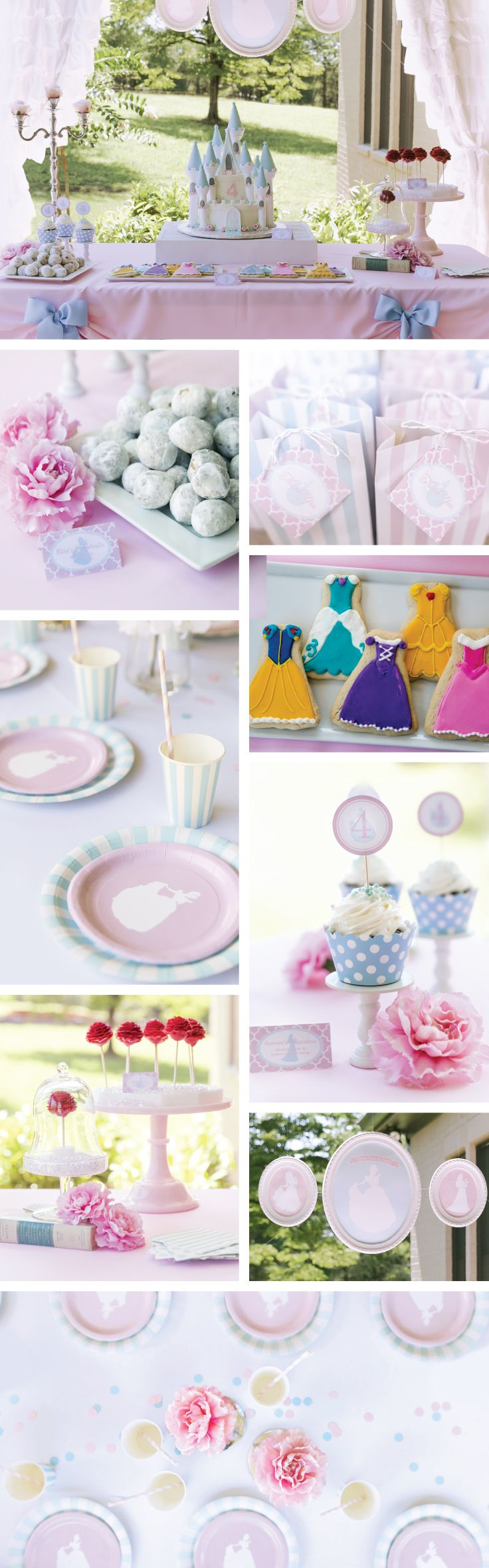Princess Party Kit | Princess Party Decor | Cinderella Party | Pink and Blue Royal Celebration | See the entire Princess Hostess Kit at www.UndercoverHostess.com!