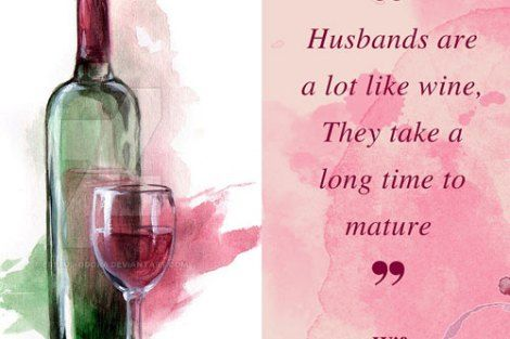 LOL! Super funny quote on Husbands like wine | Curated by Witty Vows