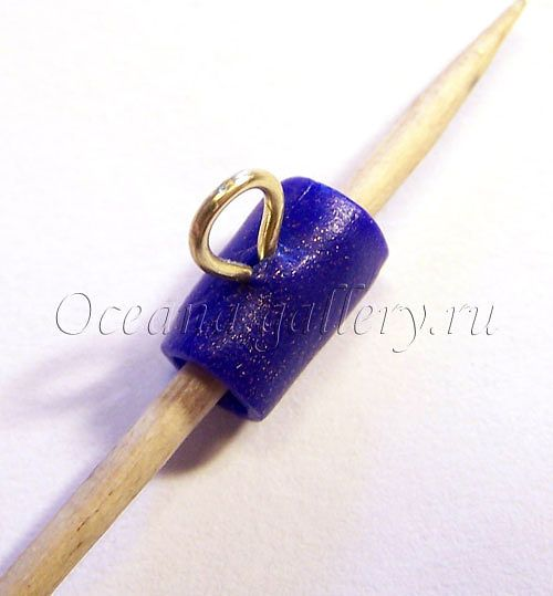 Make polymer clay sliding bails and connectors. Photo tutorial.