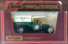 MATCHBOX models of yesteryear y-13 - 1918 CROSSLEY -- le W&G -- Waring moulé sous pression