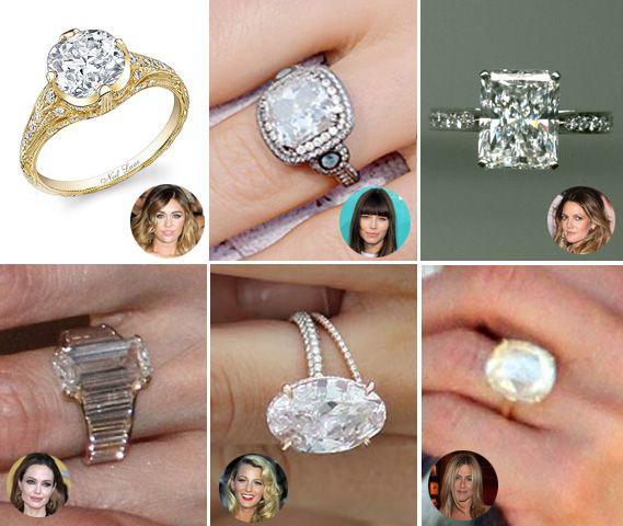 28 Best Celebrity Engagement Rings Images On Pinterest
