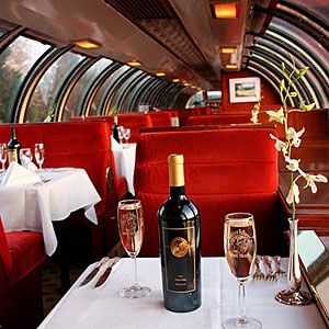 Napa Valley Wine Train: This is as much a three-hour rolling culinary adventure as a train trip. Eat in a beautifully restored Pullman dining lounge; ride past wineries and vineyards that roll to the edge of forested mountains. Enjoy a meal, or relax in the wine-tasting car and sample any of 40 local vintages.