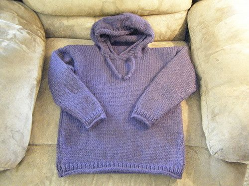 e0a6e0db Ravelry: Kids' to Adult Hoodie pattern by Lion Brand Yarn - Super ...