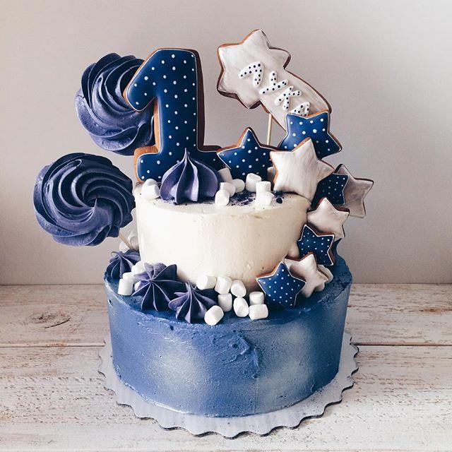 Blue/white stars&meringues