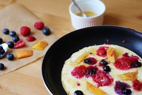 Beela Bakes: Fruit Honey Cloud Pancakes