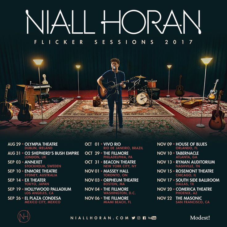 All I want is a ticket to one of his shows. But I can't go. I really want to go, I love Niall so much and I have always wanted to see him perform live. If you bought tickets to his show please enjoy it and jam to  his songs for me!!
