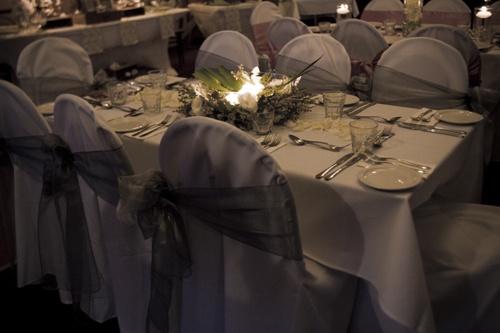 #wedding #weddingreception #sashes #organzasash