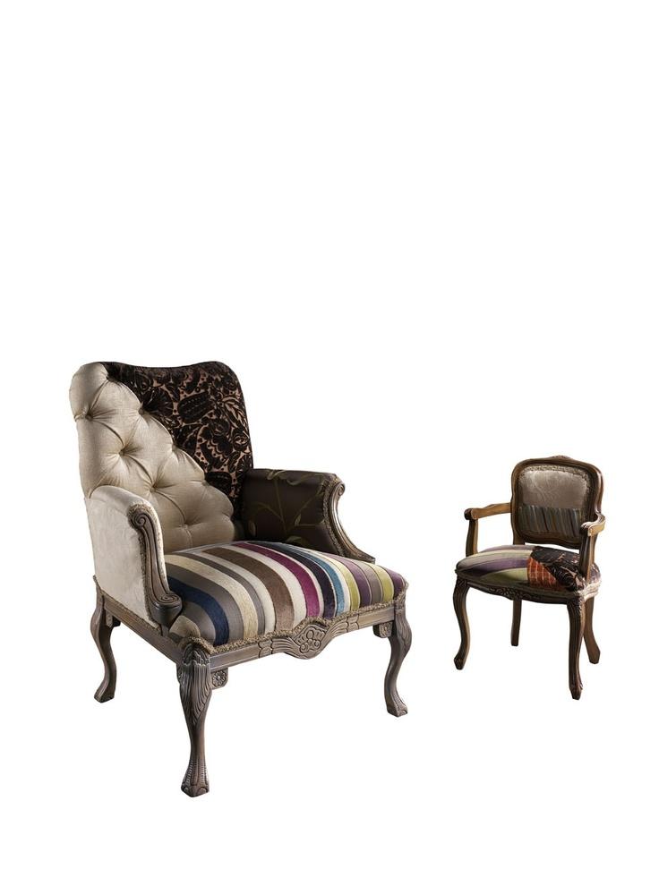 Испанская мебель ручной работы > Дизайнерская мебель > Коллекция 2013 года > Лола Гламур (Испания) Артикул 242 (слева) и 540st (справа)