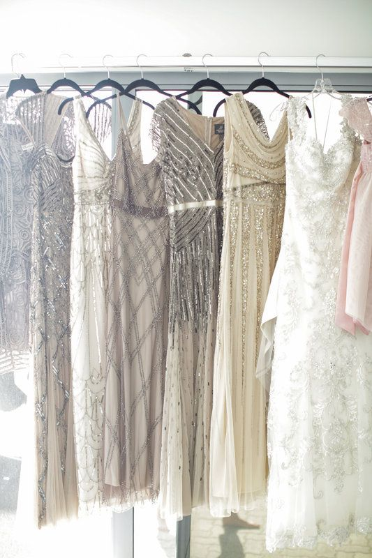 quinn & brent Photo By Jenny Smith & Co.  Old Hollywood Great Gatsby Wedding Bride Dress Bridesmaid Dress Beaded Gowns