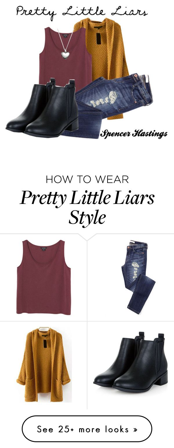 """PLL//Spencer Hastings"" by simplymollyrose on Polyvore featuring Monki, Pandora, women's clothing, women, female, woman, misses and juniors"