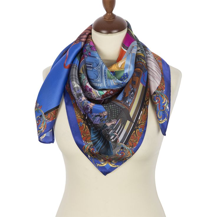 FREE SHIPPING. Russian shawls and scarves store. Russian shawl 10144-13. Traditional Russian clothing from Pavlovo Posad.
