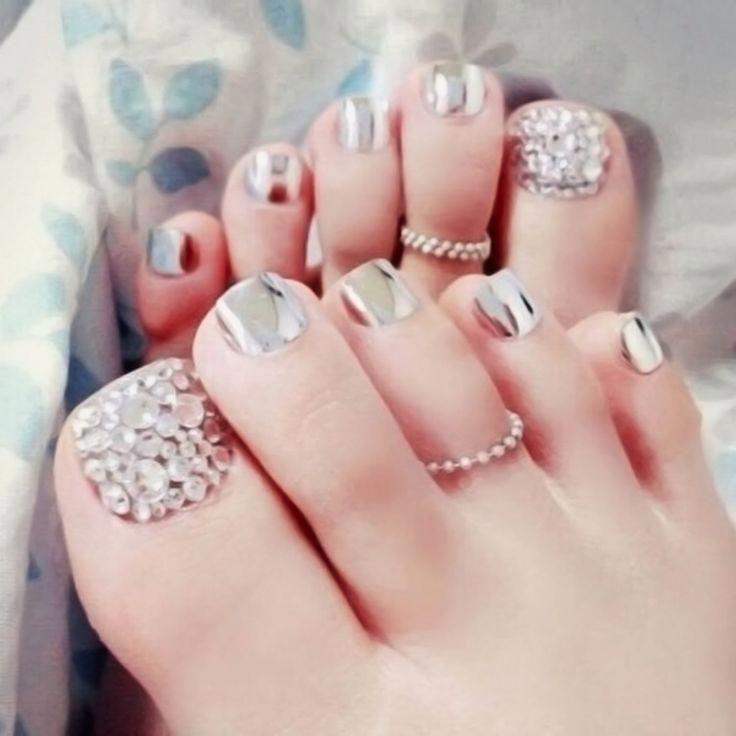 Girly Glitter Nails Beautifulacrylicnails Summer Toe Nails Cute Toe Nails Toe Nail Designs