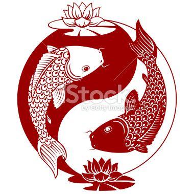Yin Yang Koi Royalty Free Stock Vector Art Illustration