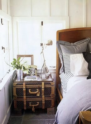 cute bedside table--and love the board and batten