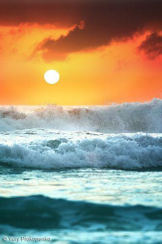 Ocean Sunrise at Warriewood Beach, Sydney's Northern Beaches, Australia