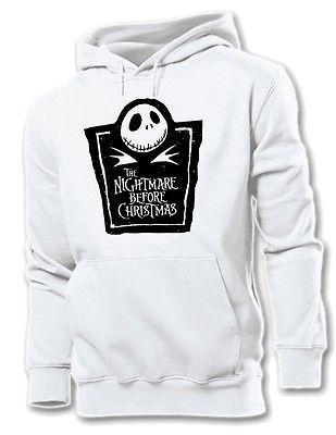 Unisex Mens Womens Jack Skellington The Nightmare Before Christmas Hoodie Tops