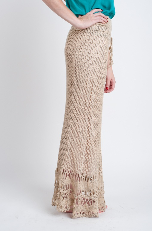 Dream Catcher Crochet Maxi Skirt by Sans Souci