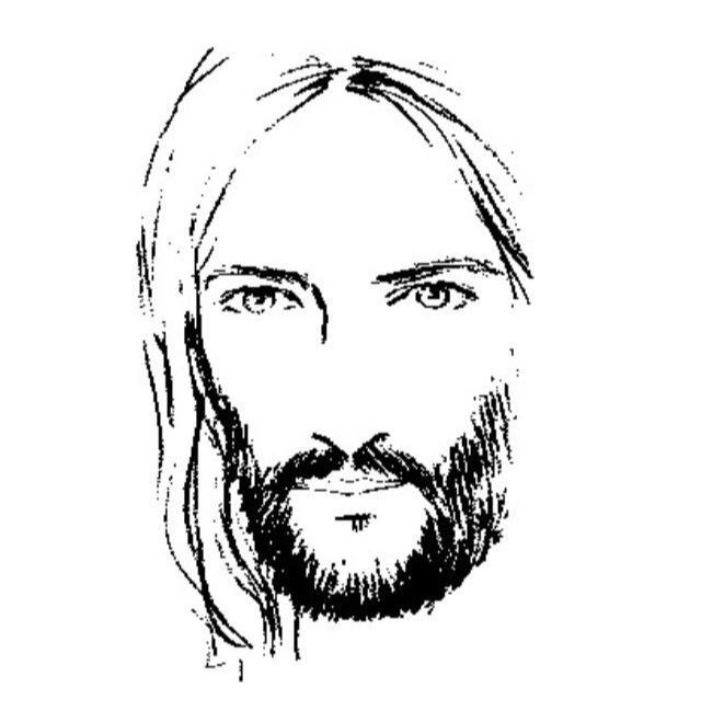 Line Drawing Of Jesus Face : Best pictures of jesus images on pinterest