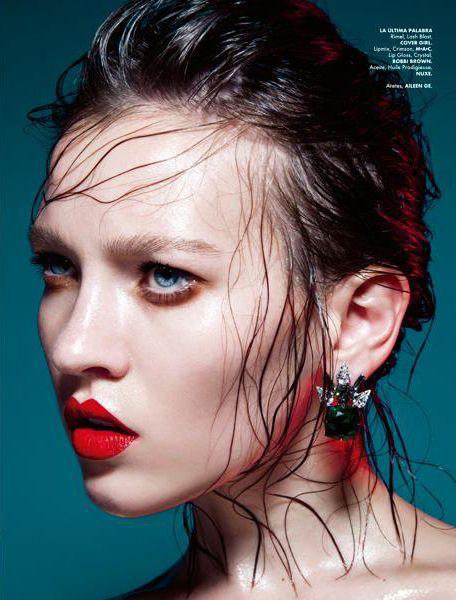 Elle Mexico, Mayo 2013 Photo: Anairam Makeup: Ossiel Ramos Model: Anna Fedo @wanting w Jewelry: Aileen gc