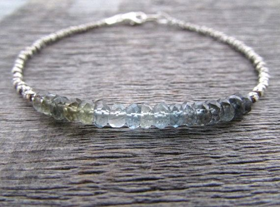 march birsthone bracelet moss aquamarine bracelet by earthwatersol
