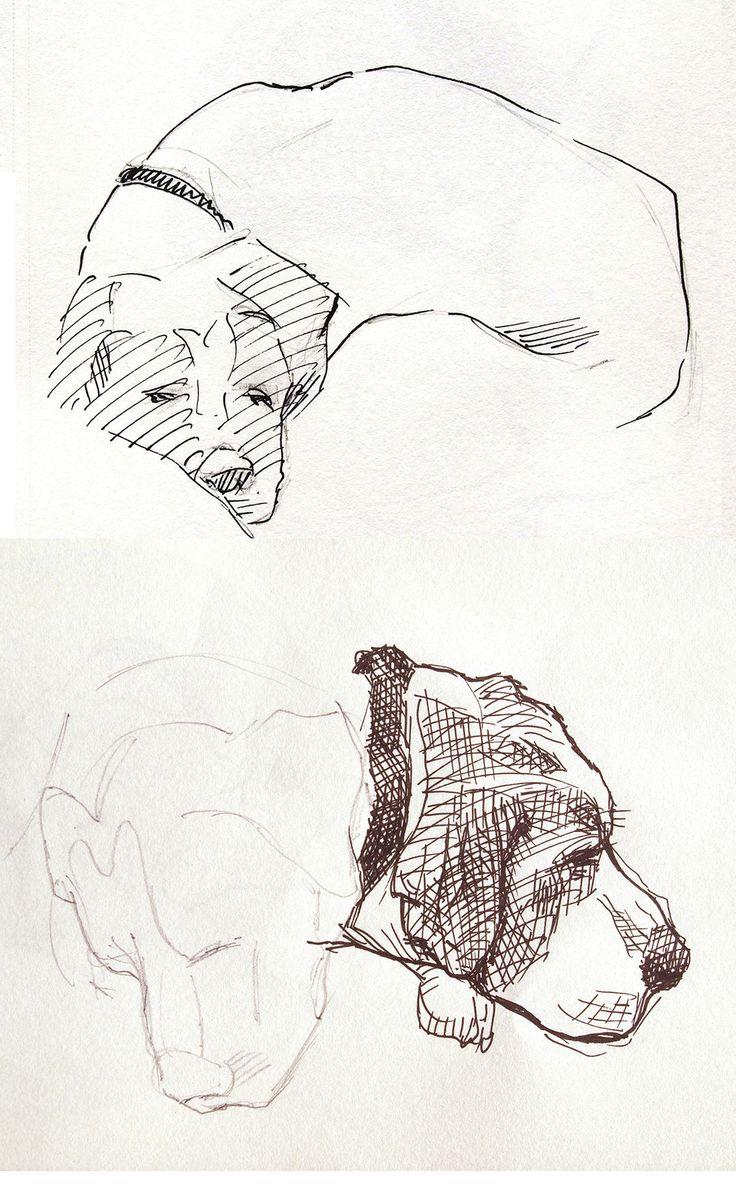 https://flic.kr/p/CGBGVF | Viola: il cane della zia, campione di pennichella che si sveglia solo quando gioca la Fiorentina. | pennarello e matita su blocco da disegno.
