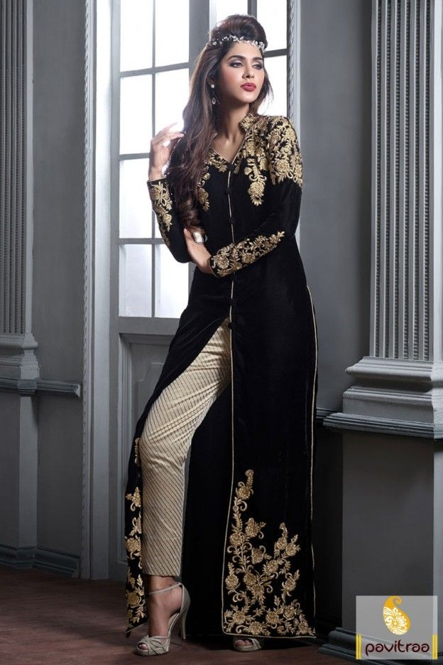 #Black golden brocade velvet designer dress online shopping for young women. This heavy embroidery party wear designer collection salwar kameez is accessible on #pavitraa fashion in discount offer. #salwarsuits, #anarkalisalwarsuits, #designerdresses, #partyweardresses, #salwarkameez, #lehengasuits, #onlinesuit, #salwarsuit, #salwarkameez, #dress, #partyweardress, #anarkalisalwarsuits More: http://www.pavitraa.in/store/bridal-salwar-suits/ Any Query:		 Call Us:+91-7698234040