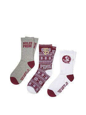 Florida State University 3-Pack Crew Socks