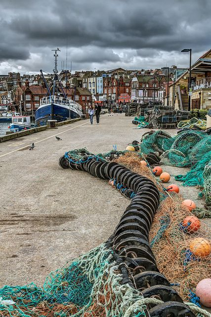 ~Fishing Quay  The dockside at Scarborough is littered with nets and pots. An interesting place for a stroll~
