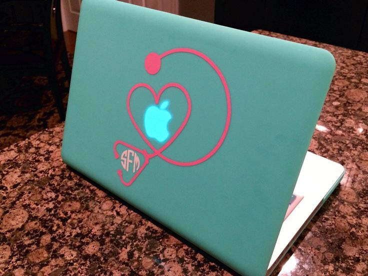 Heart Stethoscope Monogram Decal | Stethoscope Monogram | Macbook Monogram Decal | Macbook Decal | Car Decal | Car Monogram | Laptop Decal. by CraftyBelleDesign on Etsy https://www.etsy.com/listing/247908547/heart-stethoscope-monogram-decal