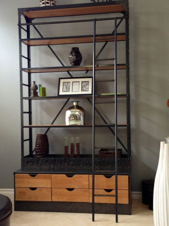 Etagere Bookcase Extra Tall Shelving Unit With Drawers