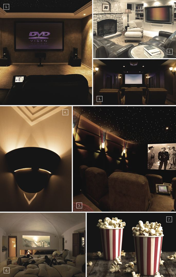Designs and Ideas For a Basement Home Theater