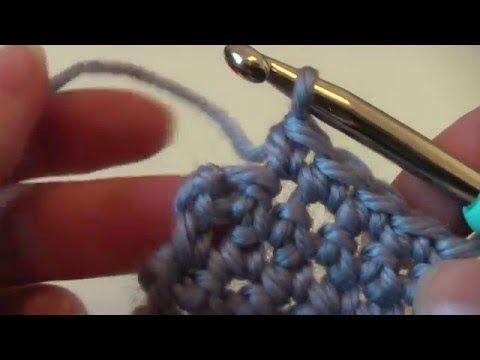 Półsłupek - single crochet - A nuż szydełko. Video poradnik.