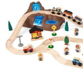 The Kidkraft Bucket Top Mountain Train Set lets kids explore an entire world without even leaving the house. Fun details like three-piece runway and molded mountain help this set look even more realistic! When playtime is finished, storing this train set is a breeze – everything comes packaged in a convenient plastic bucket. Product Features […]